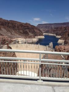 looking down on the Hoover Dam
