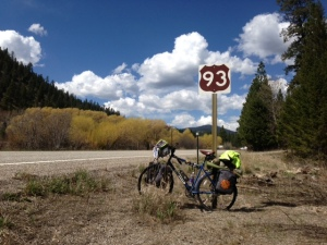MacKay to Salmon Idaho, long day 120 miles in 12 hours, encountered heavy head winds and rain.