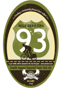 Mile Zero Imperial India Pale Ale available only a the Jasper Brewing Company, Jasper Alberta for a very limited time: All proceeds go towards ending MS!